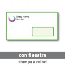 100 Buste 22x11 cm con finestra - stampa a colori