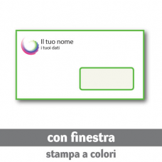 250 Buste 22x11 cm con finestra - stampa a colori