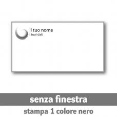 2500 Buste 22x11 cm senza finestra - stampa 1 colore nero