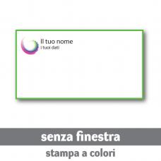 100 Buste 22x11 cm senza finestra - stampa a colori