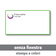 7500 Buste 22x11 cm senza finestra - stampa a colori