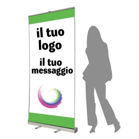 Stampa on line espositore roll up for Parati plastificati