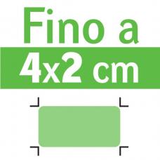 Misura max fino a 4 x 2 cm