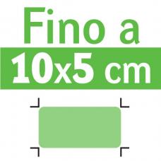 Misura max fino a 10 x 5 cm