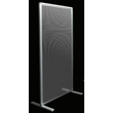 mod. APOLLO Light a canalette trasparente con pannello da 4 mm