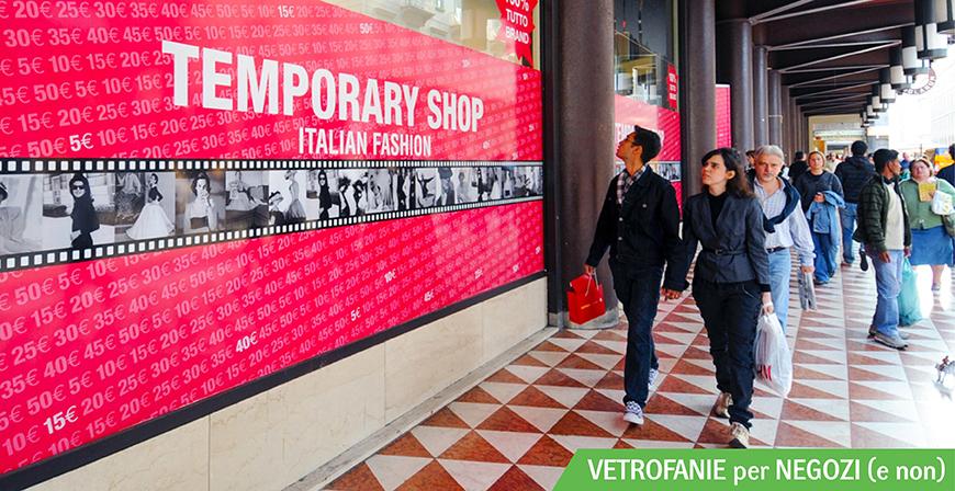 Vetrofanie per negozi